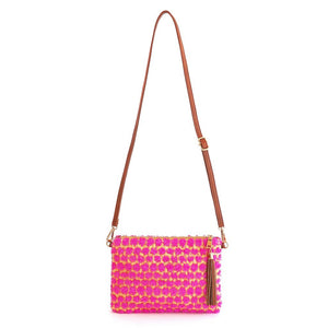 POPPY - Pink Cross Body and Wristlet - Aura & Fleur