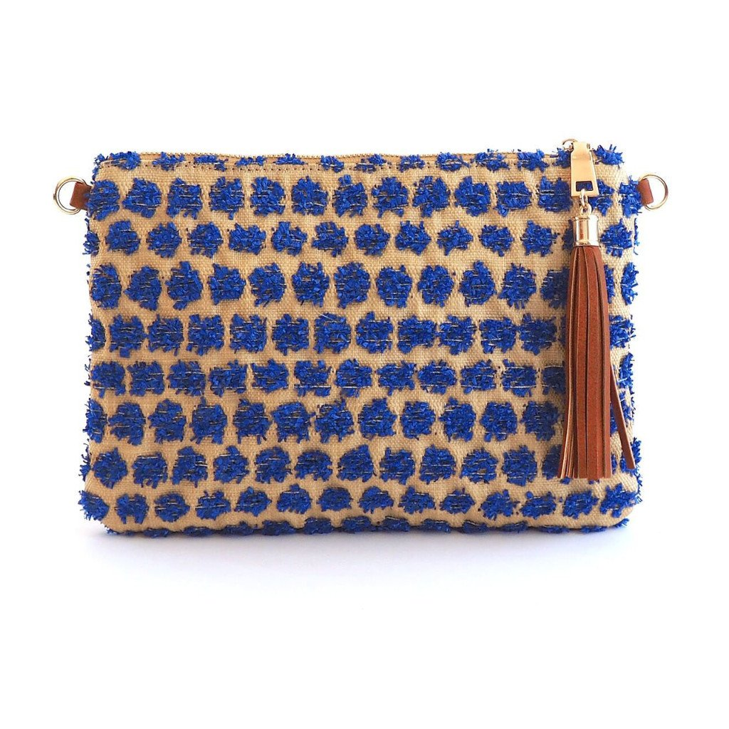POPPY - Blue Cross Body and Wristlet - ONE LEFT - Aura & Fleur