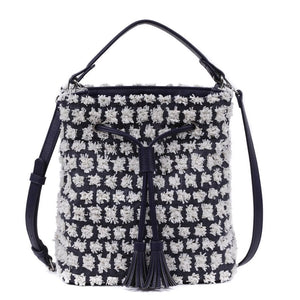 ABBEY - Navy Bucket Bag - Aura & Fleur