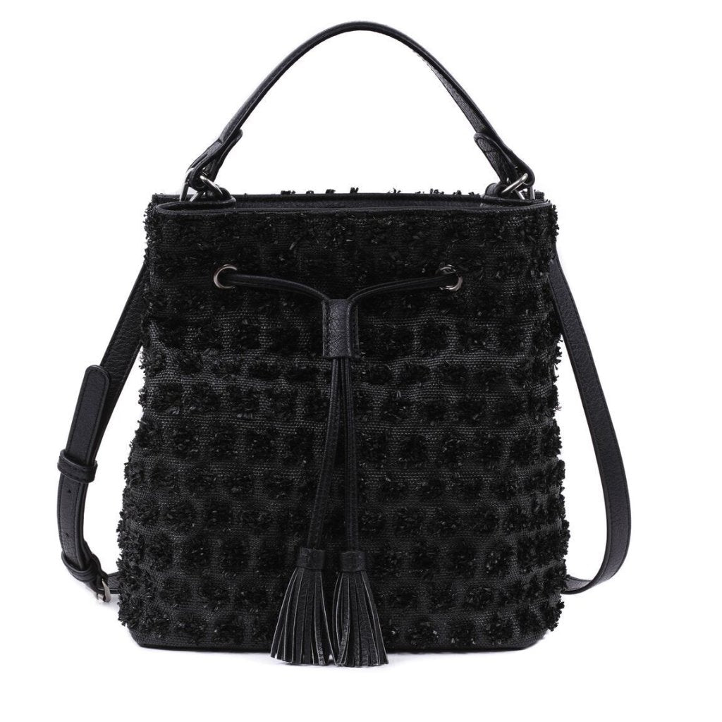ABBEY -  Black Bucket Bag - Aura & Fleur