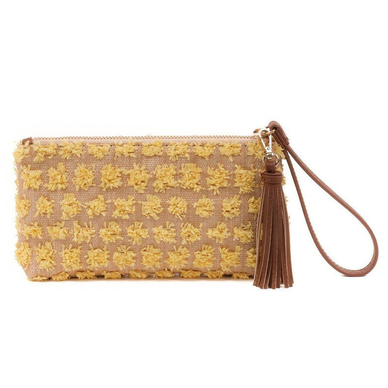 ROXY - Yellow Wristlet Clutch- LAST ONE - Aura & Fleur