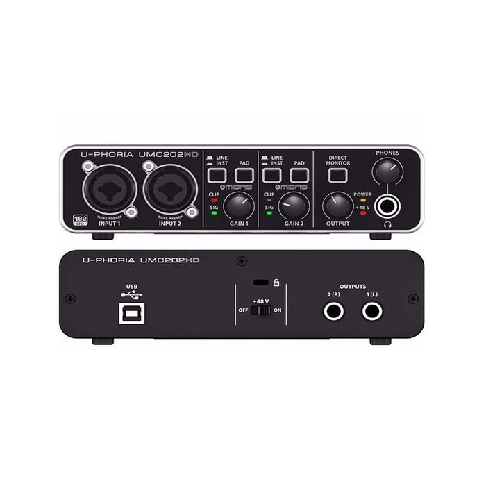 Interfase Behringer Umc-202Hd