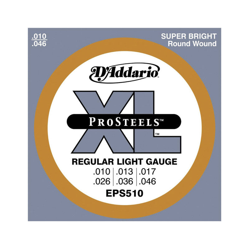 Cuerdas Guitarra Electrica Pro Steels Calibre 10-46 Eps510