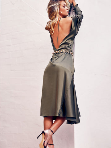 SATIN CHAMPERS GOWN