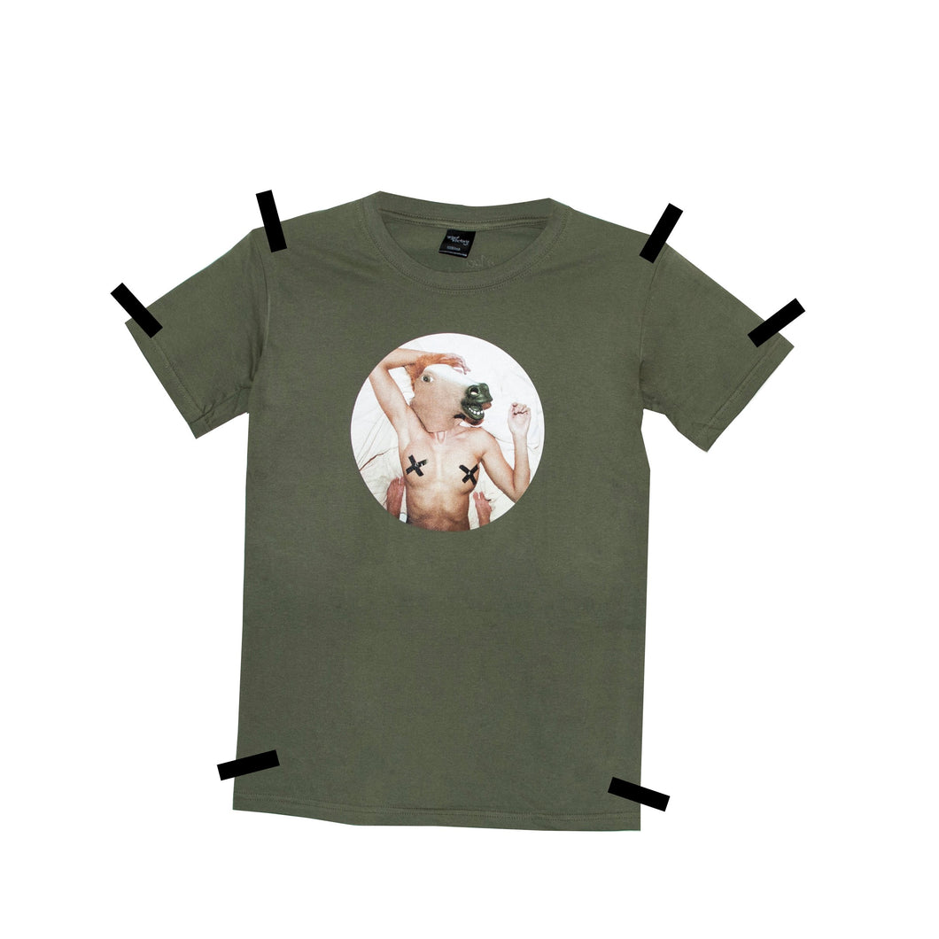 THE HORSE KHAKI T-SHIRT