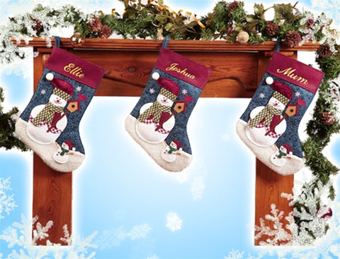 Personalised Happy Snowman Stocking