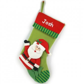 Personalised Santa Stocking 3D