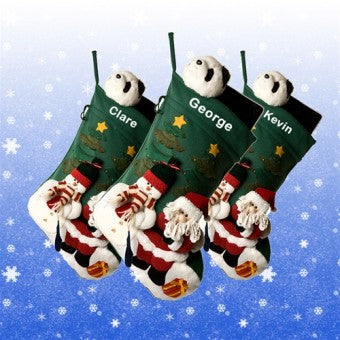 Giant Personalised Santa & Snowman Christmas Stocking - SOLD OUT