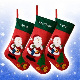 Personalised Felt Santa & Tree Stocking