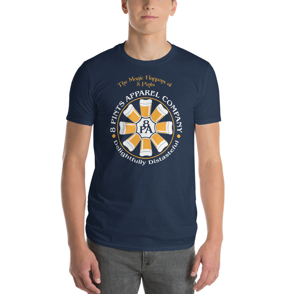 8 Pints Apparel Company Logo T-Shirt