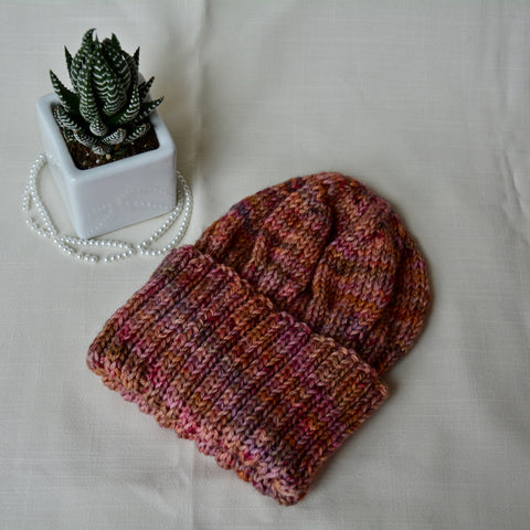 WFTD Classic Ribbed Beanie - Pomegranate