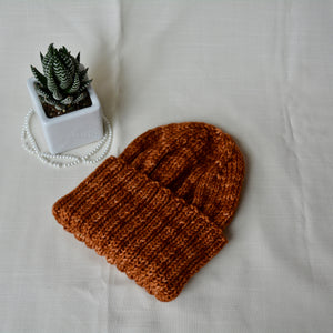 WFTD Classic Ribbed Beanie - Caramel