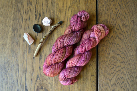 Pomegranate Sock Yarn (100 g / 463 y) Hand Dyed