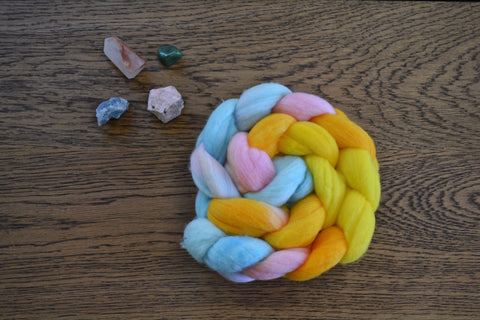 Pastel Easter Eggs Merino Top (4 oz)