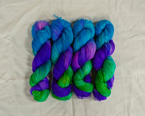 I'm A Mermaid Now Sock Yarn (100 g / 463 y) Hand Dyed