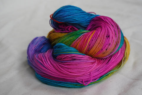 The Magic with Speckles Sock Yarn (100 g / 463 y) Hand Dyed