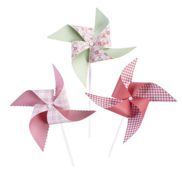 Vintage Girl Pinwheel Kit (6pk)