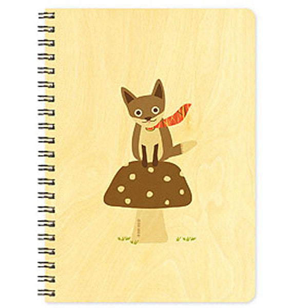 Foxy Fungi - Wooden Journal