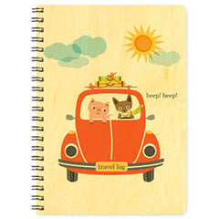 Beep! Beep! Bug - Wooden Journal