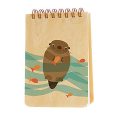 Mr Water Otter  - Wooden notepad