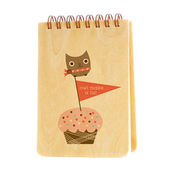 Owl Make a List  - Wooden notepad