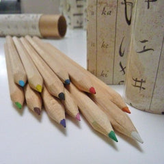 Coloured Pencil Tube - Japanese Alphabet