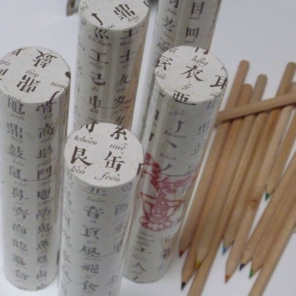 Coloured Pencil Tube - Chinese Alphabet
