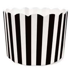 Baking Cups—Black stripe (50)