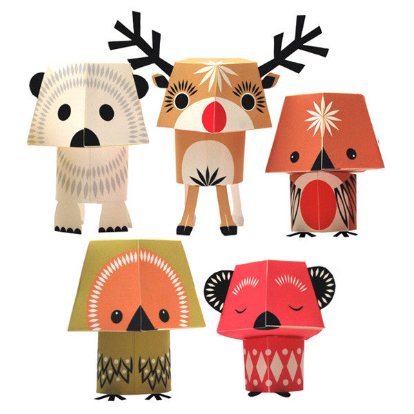 Christmas Creatures—Paper Animals