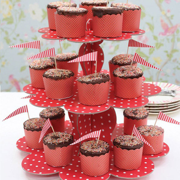 Cupcake Stand—Red & White Dots