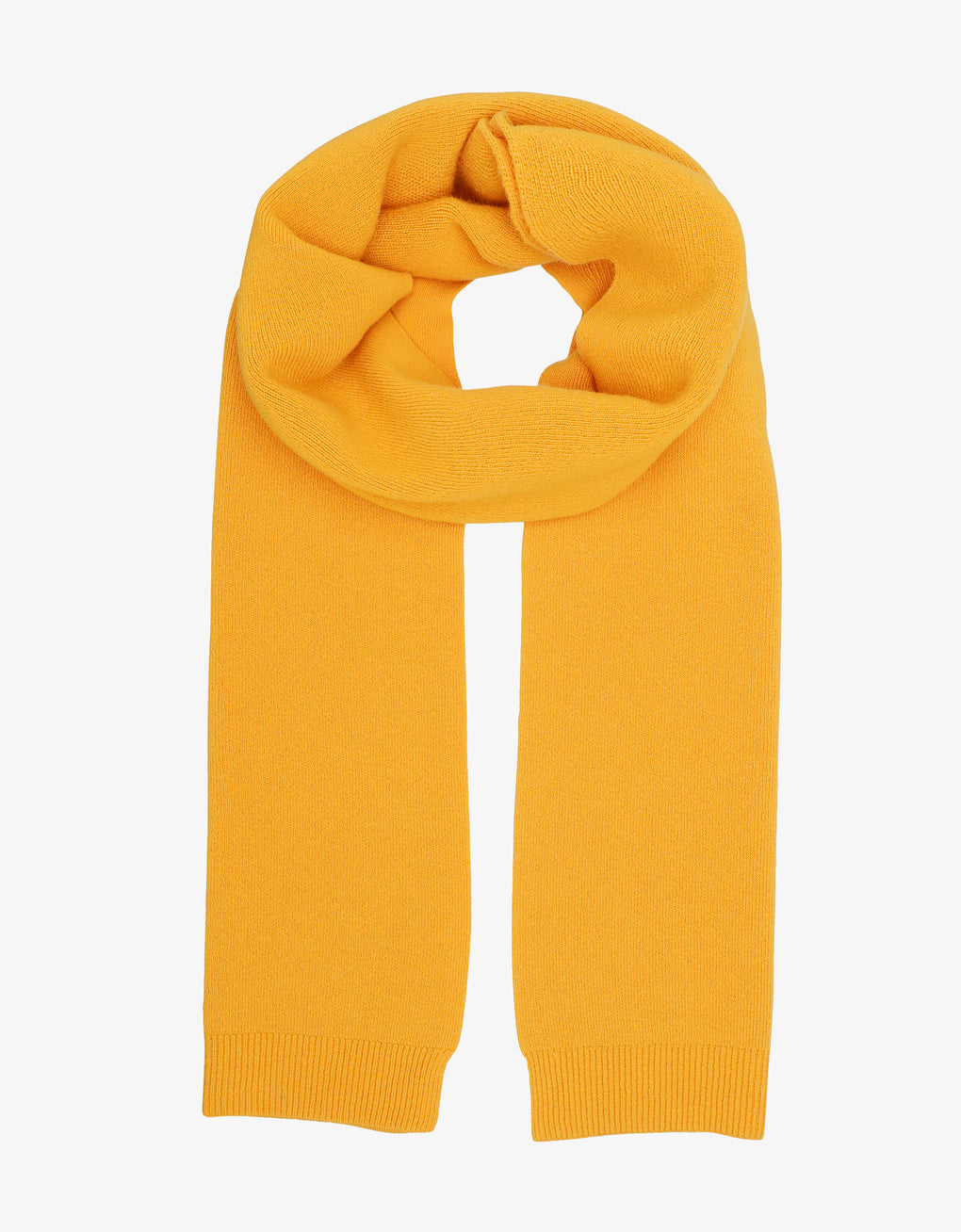 Colorful Standard Merino Wool Scarf Scarf Burned Yellow