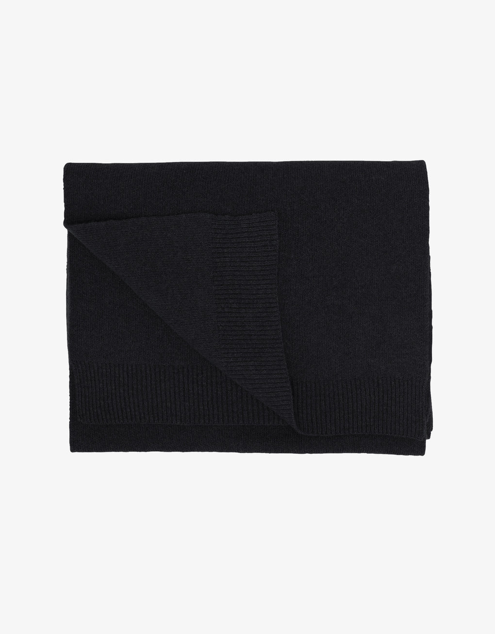 Colorful Standard Merino Wool Scarf Scarf Deep Black