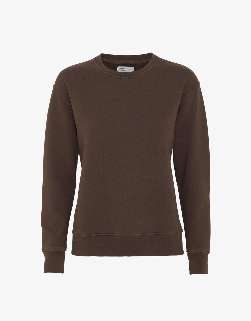 Colorful Standard Women Classic Organic Crew Women Crewneck Coffee Brown
