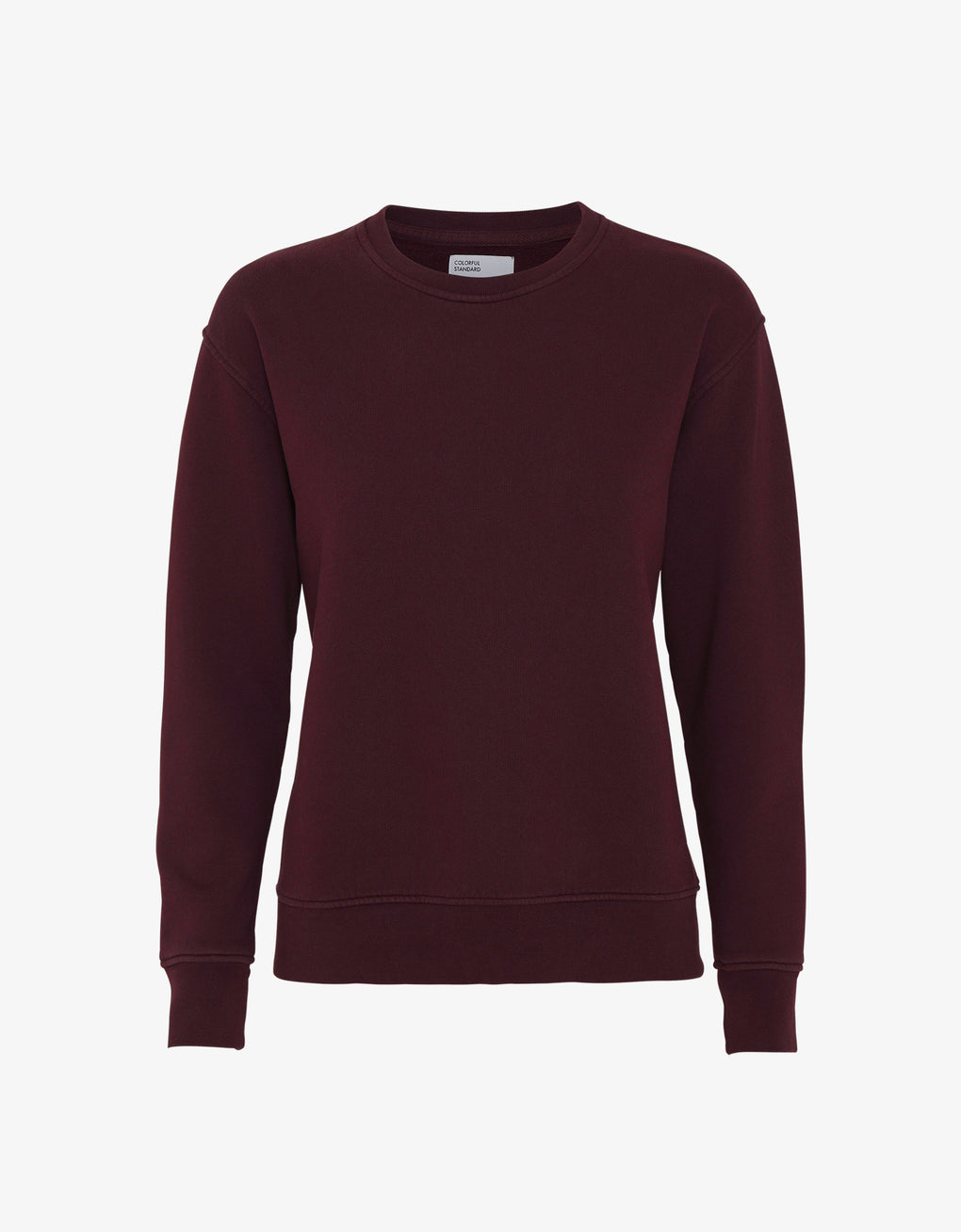 Colorful Standard Women Classic Organic Crew Women Crewneck Oxblood Red