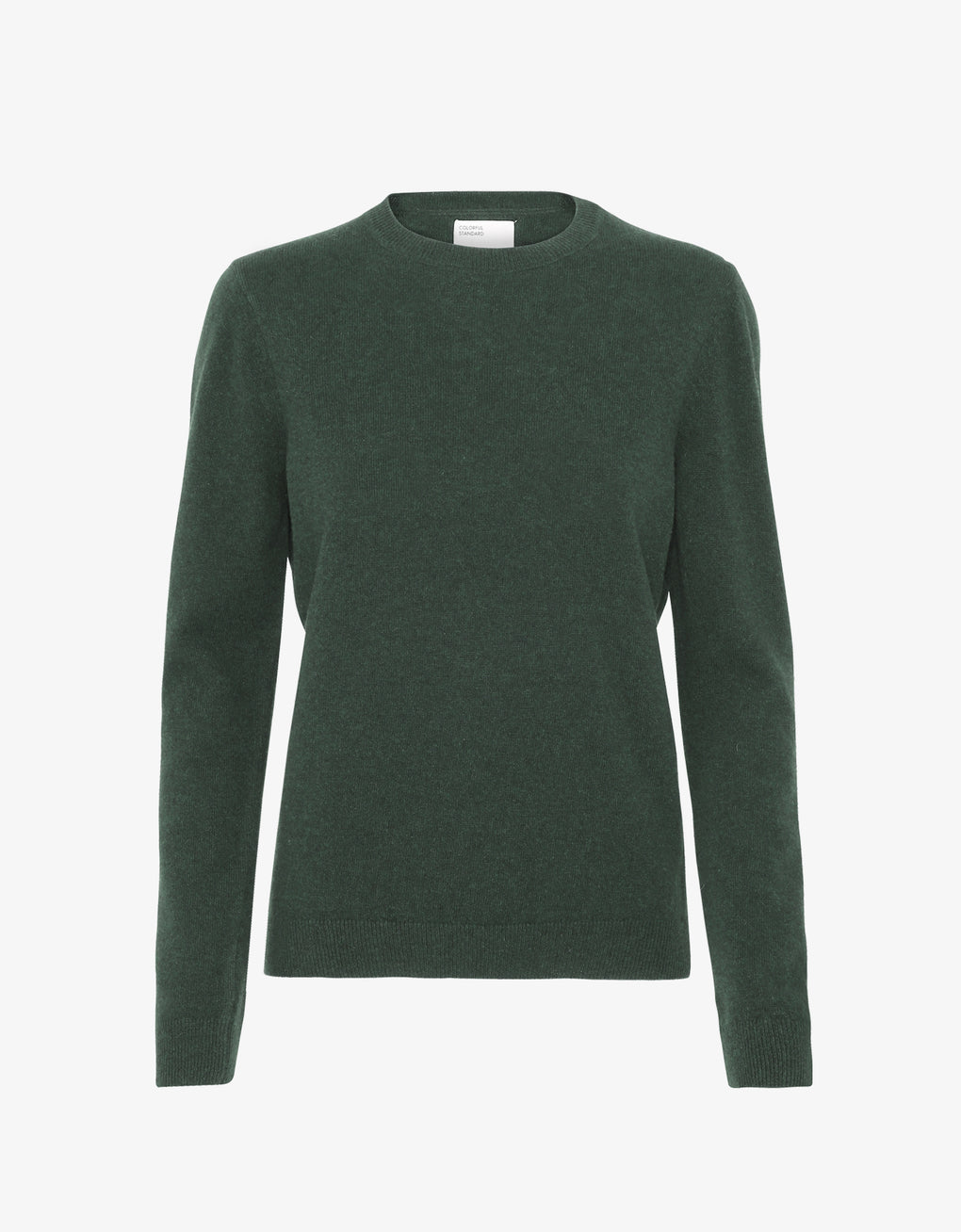 Colorful Standard Women Light Merino Wool Crew Women Merino Crewneck Emerald Green