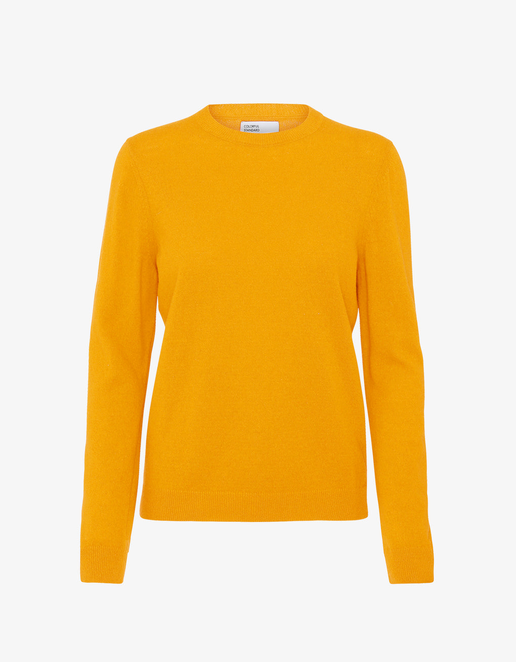 Colorful Standard Women Merino Wool Crew Women Merino Crewneck Burned Yellow