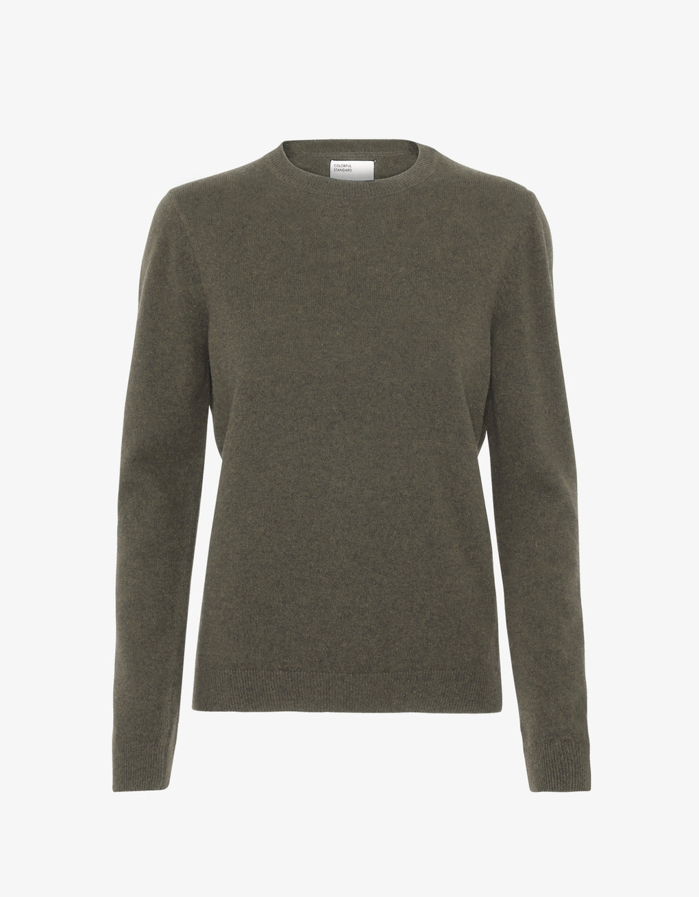 Colorful Standard Women Merino Wool Crew Women Merino Crewneck Dusty Olive