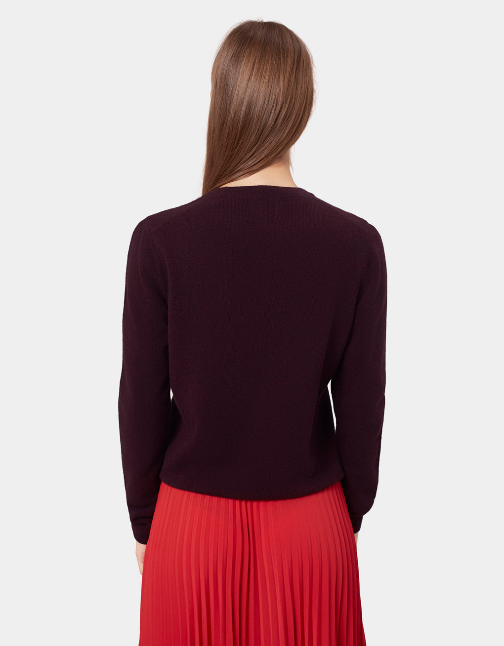 Colorful Standard Women Merino Wool Crew Women Merino Crewneck Oxblood Red