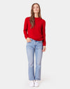 Colorful Standard Women Merino Wool Crew Women Merino Crewneck Scarlet Red