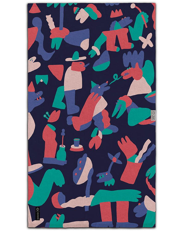 LUCAS BEAUFORT X LEUS BEACH TOWEL - BLACK