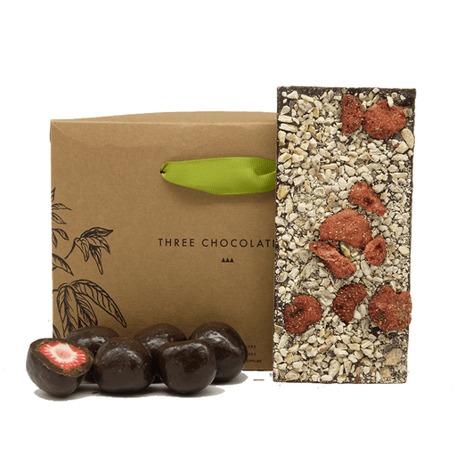 Three Chocolatiers Dark Strawberry Blast Gift Hamper