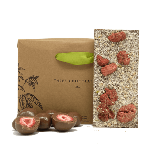 Three Chocolatiers Milk Strawberry Blast Gift Hamper