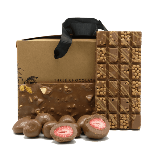 Three Chocolatiers Small Gift Hamper Milk Chocolate