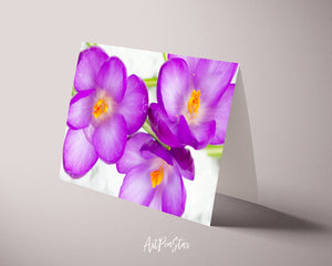 Crocuses Flower Photo Art Customized Gift Cards