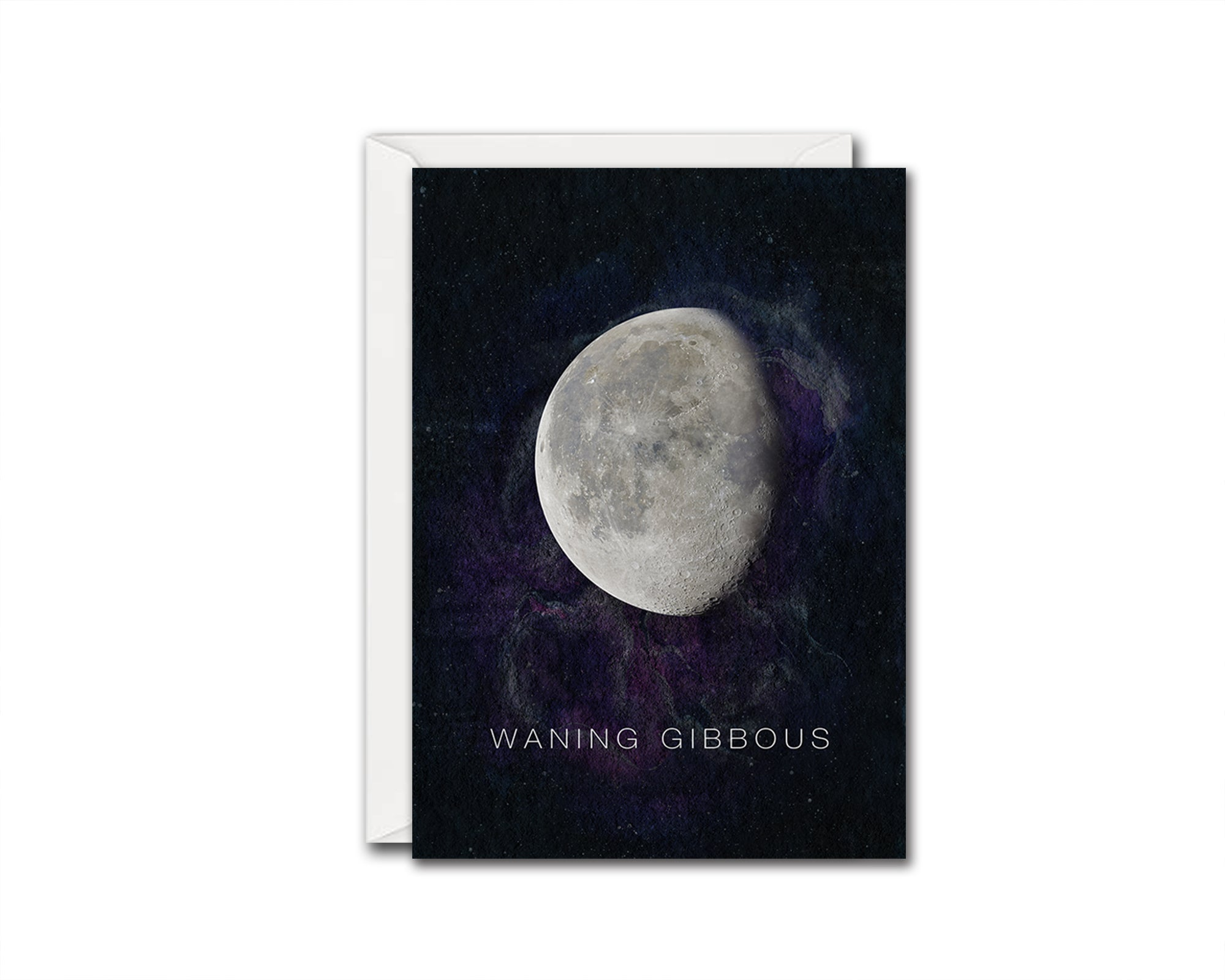 Waning Gibbous Moon Phases Universe Space Customizable Greeting Card