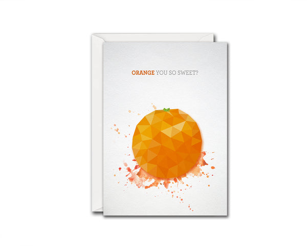 Orange you so sweet Food Customized Gift Cards