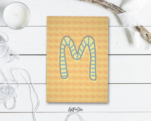 Alphabet Forest Letter M Animal Monogram Note Cards