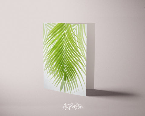 Green Palm Tree Leaf Botanical Garden Customized Greeting Card