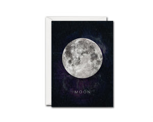 Moon Moon Phases Universe Space Customizable Greeting Card