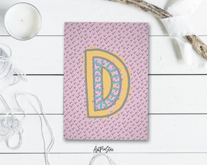 Alphabet Forest Letter D Animal Monogram Note Cards